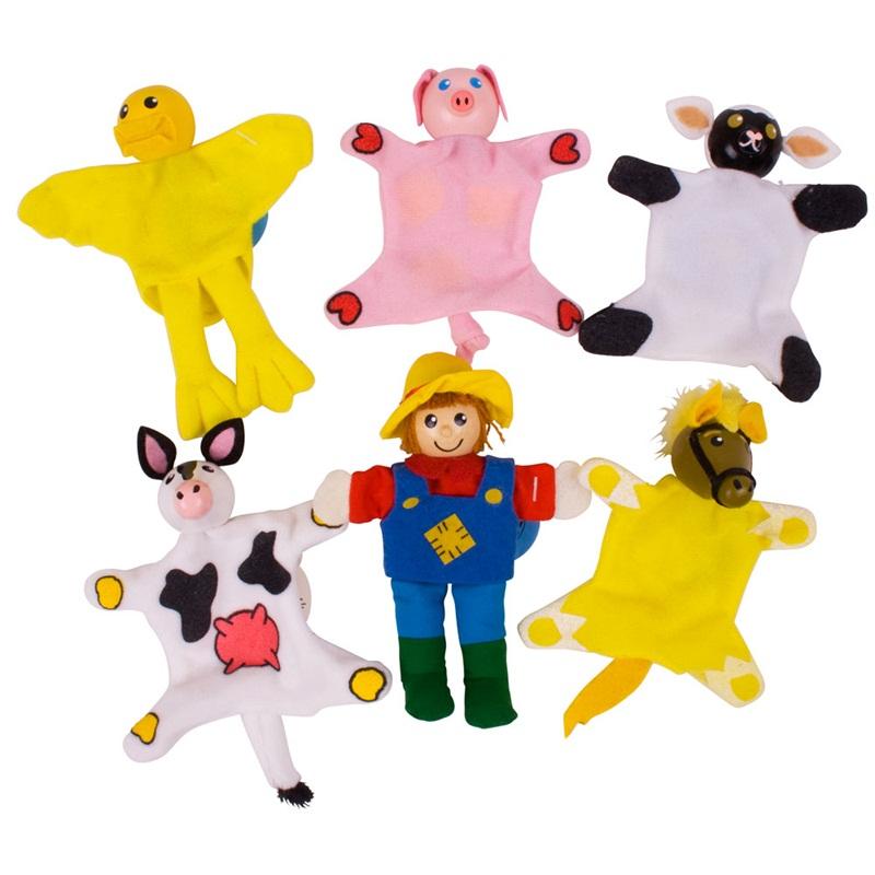 Bigjigs Toys prstoví maňásci - sada farma