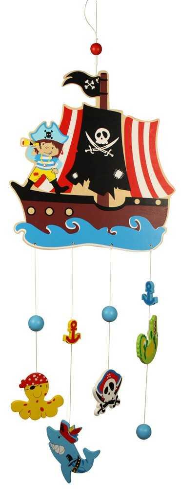 Dřevěné hračky - Závěsný kolotoč - Piráti
