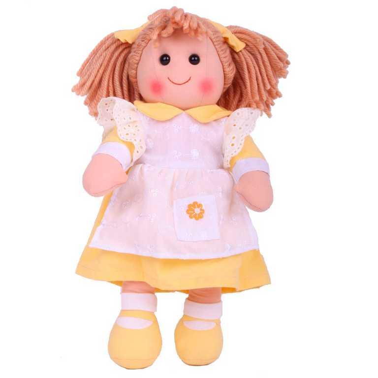 Bigjigs Toys látková panenka Lucy 38 cm