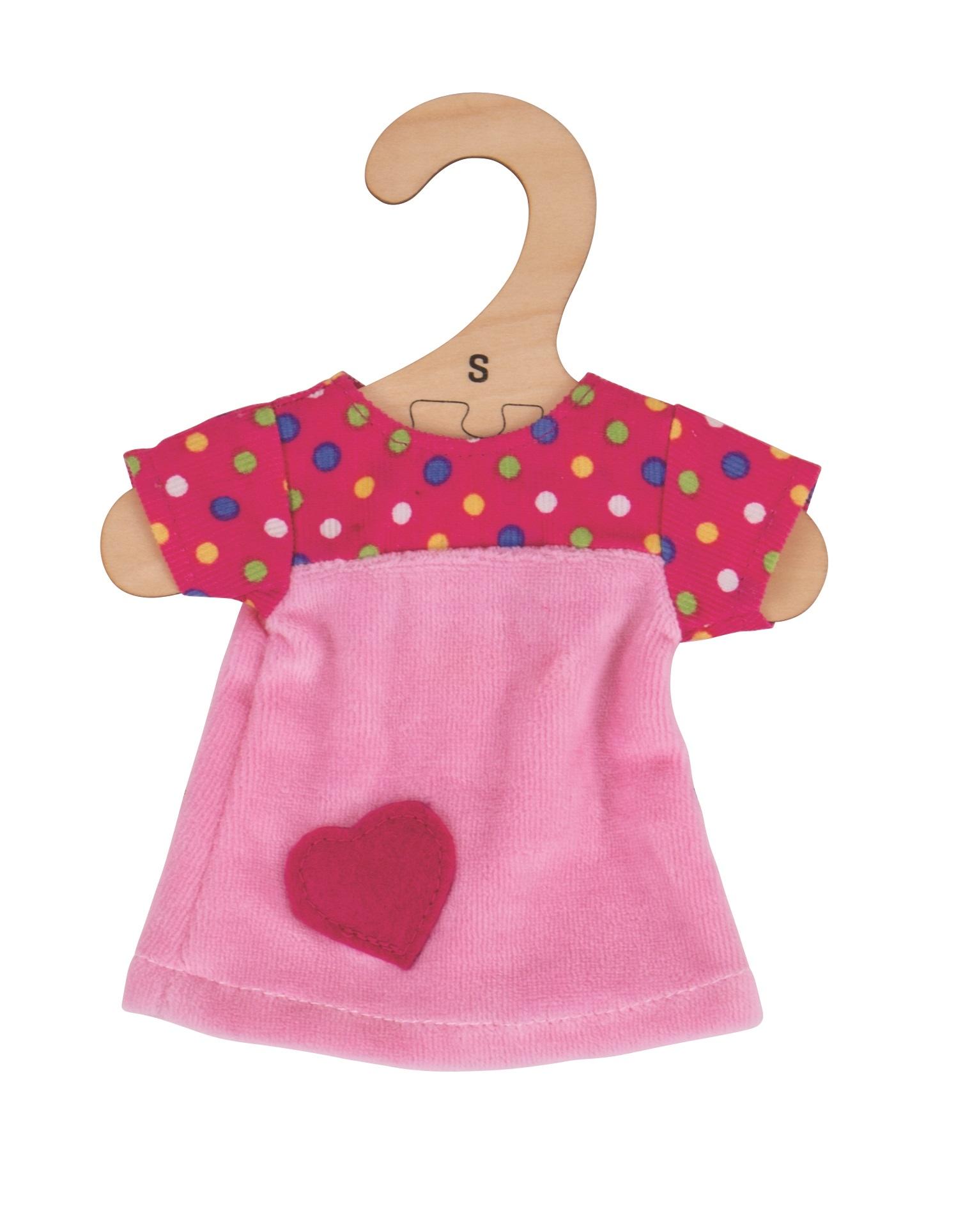Bigjigs Toys růžové tričko se srdíčkem 28 cm