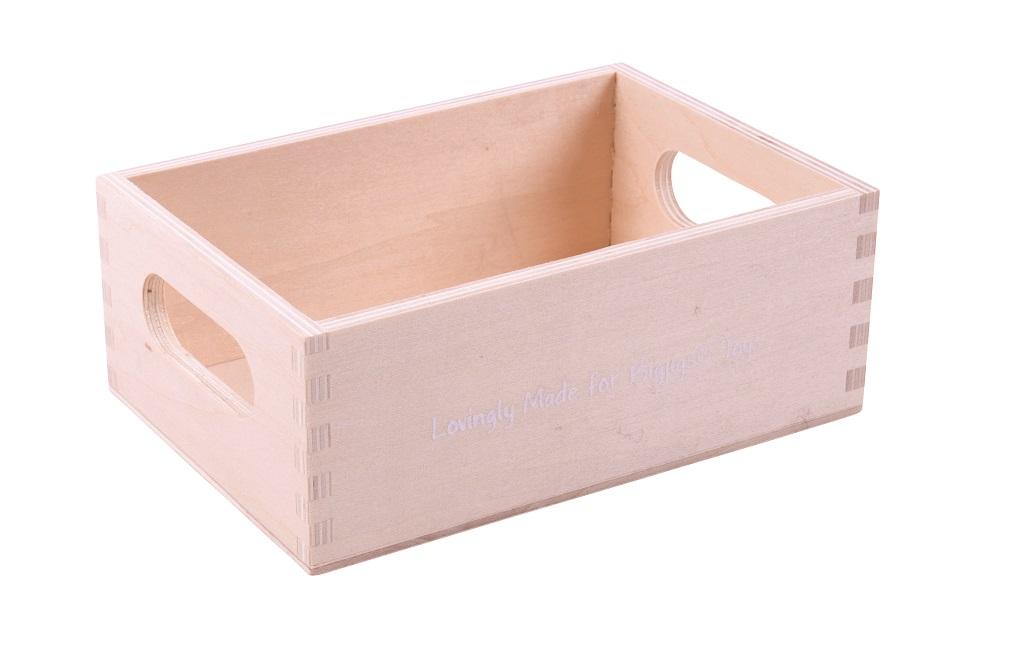 Bigjigs Toys dřevěná krabička na dřevěné potraviny