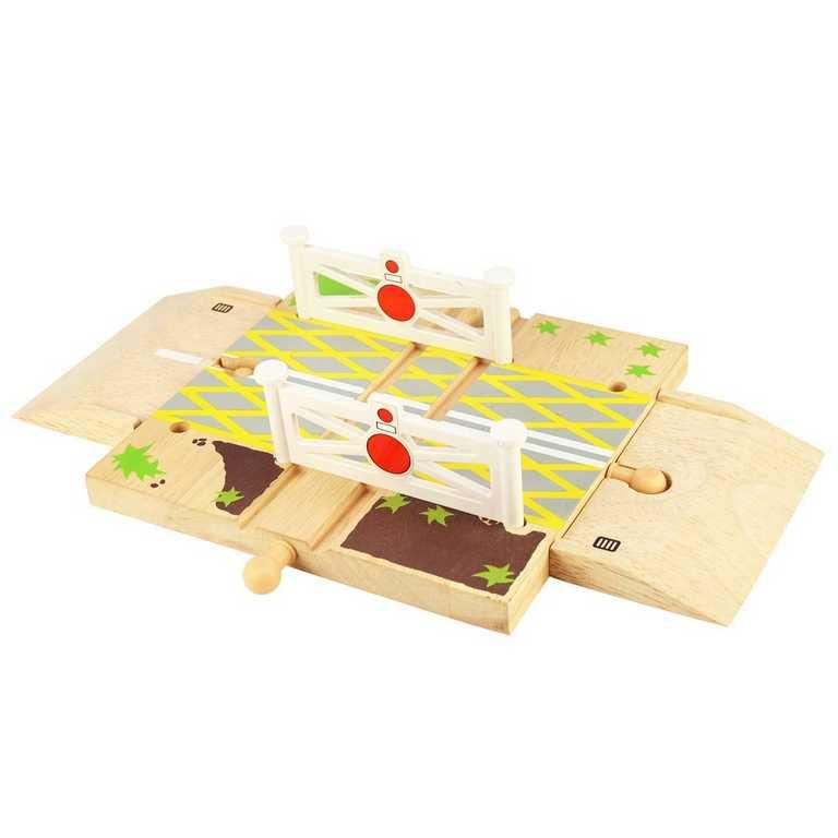 Bigjigs Rail autodráhy - Železniční přejezd s brankami