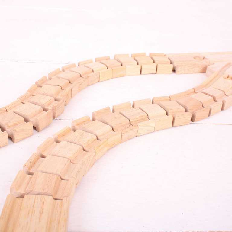 Bigjigs Rail dřevěná vláčkodráha  - Ohebná kolej - 2kusy