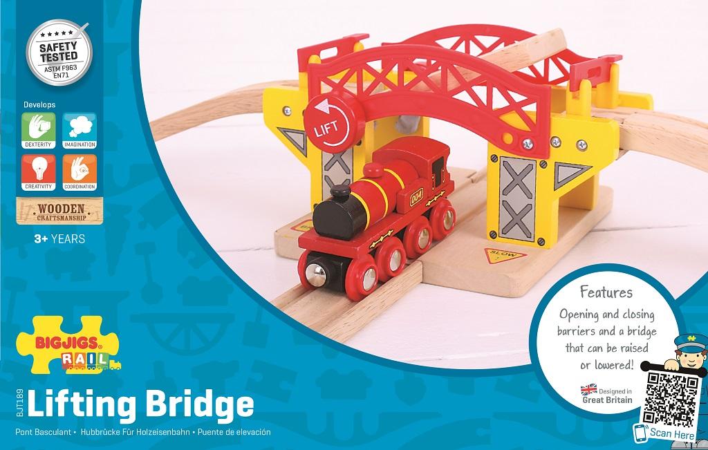Bigjigs Rail dřevěná vláčkodráha  - Zvedací most