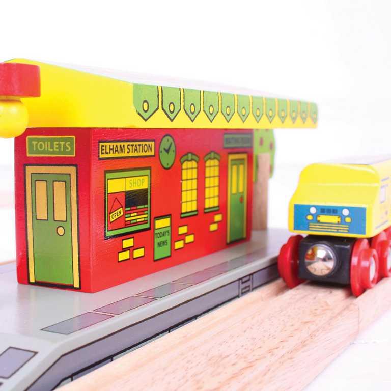 Bigjigs Rail dřevěná vláčkodráha - Venkovské nádraží