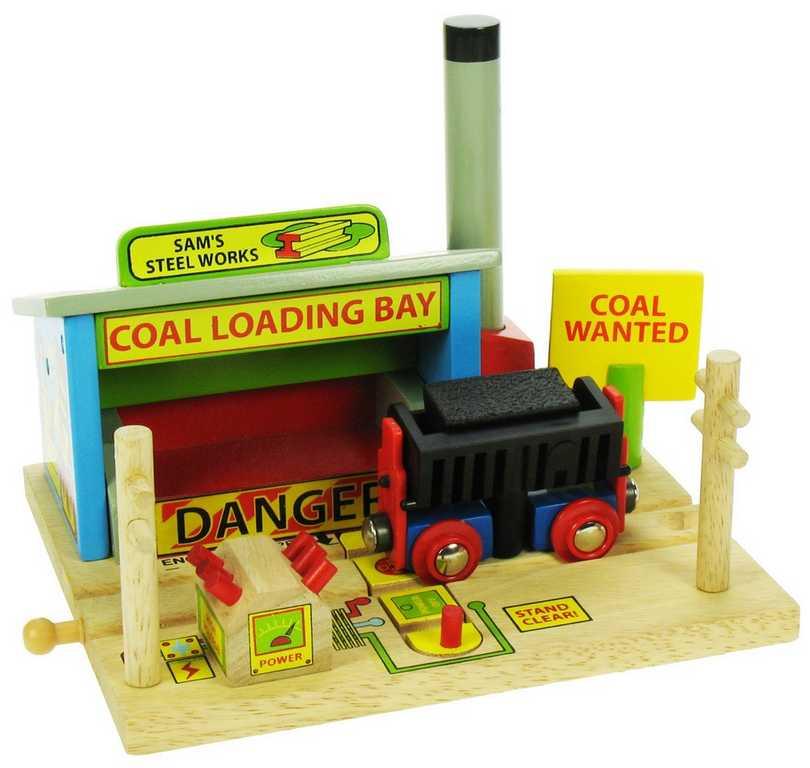 Dřevěné vláčkodráhy- Ocelárna s automatickým vyklápěním uhlí