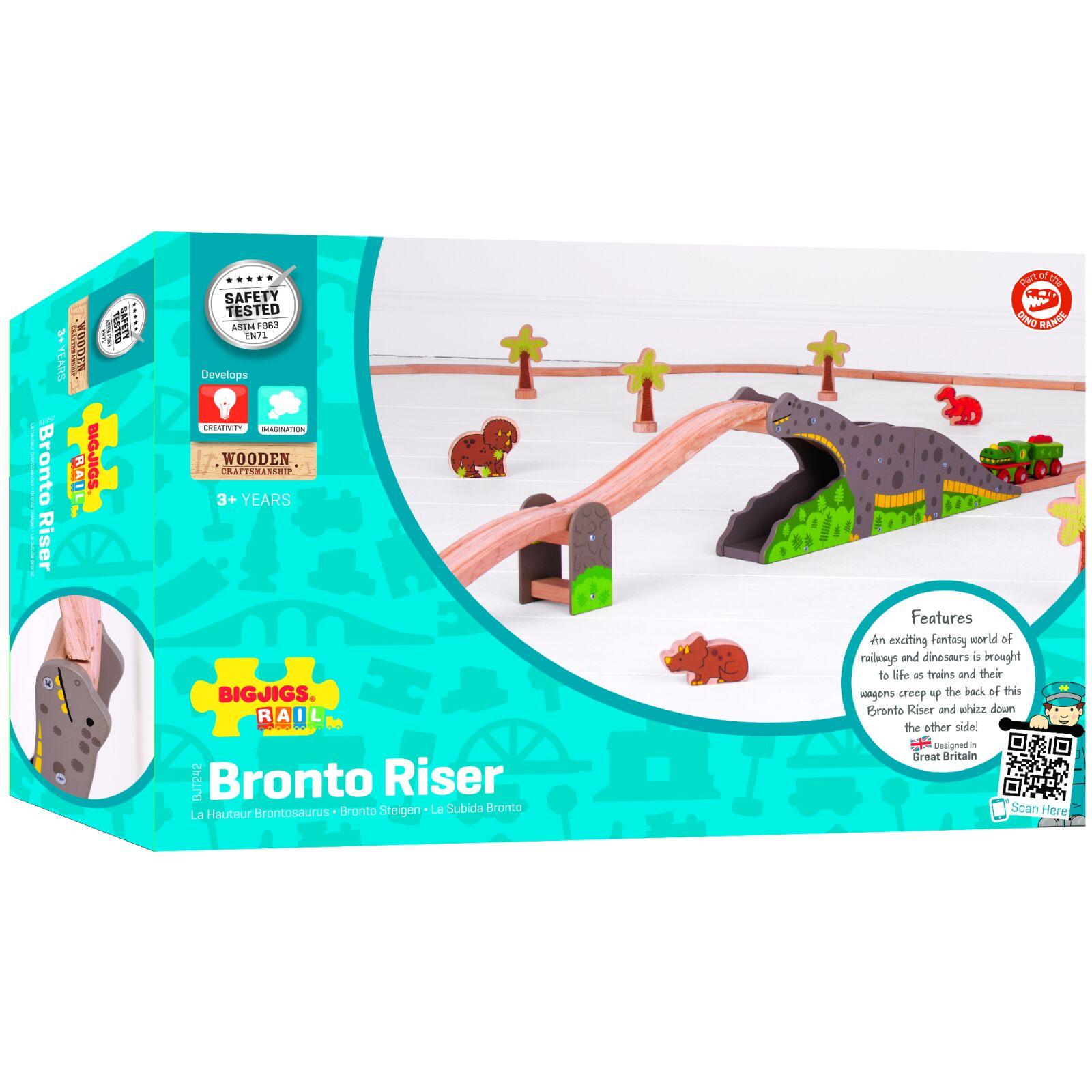 Bigjigs Rail dřevěná vláčkodráha - Dinosauří most