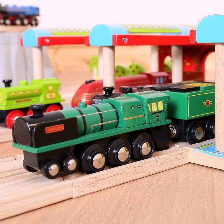 Bigjigs dřevěná replika lokomotivy - RH&DR Typhoon
