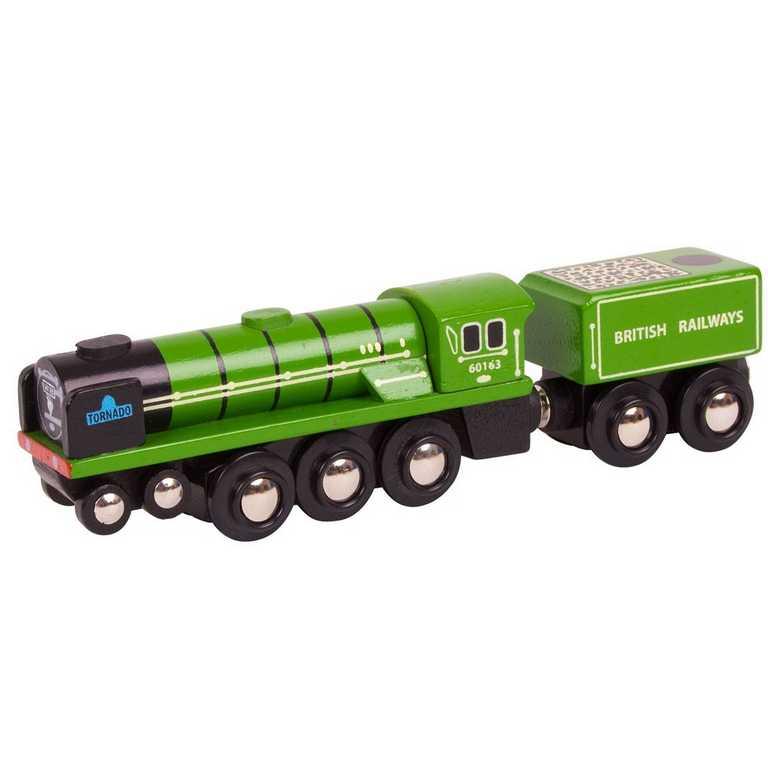 Bigjigs dřevěná replika lokomotivy - Tornado
