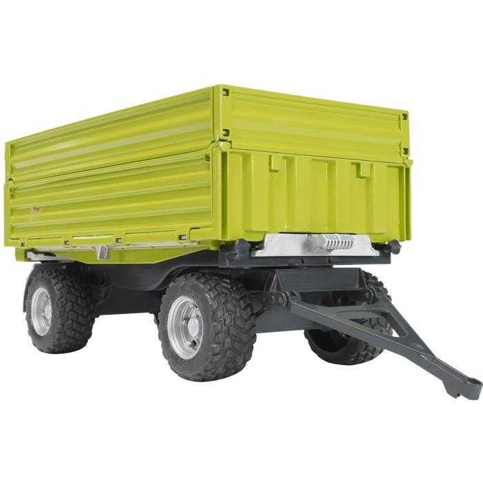 Bruder - Sklápěcí vůz FLIEGL - zelený, třístranný