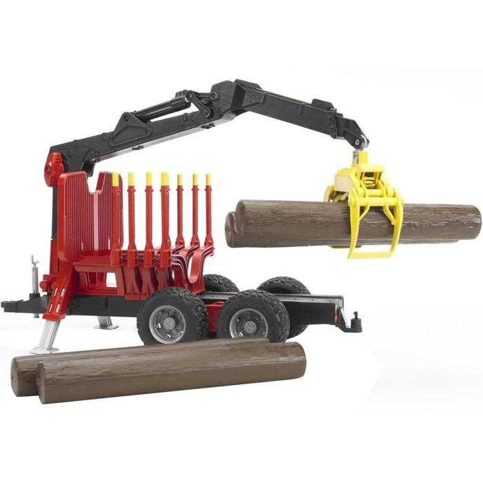 Bruder - Přepravník na dřevo s rukou