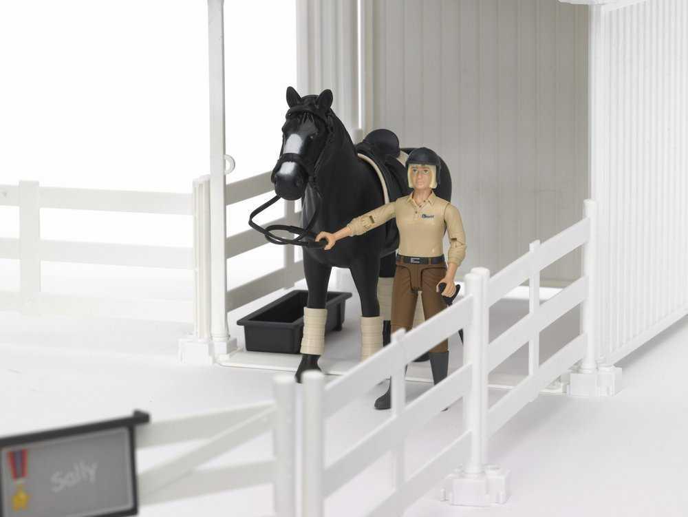 Bruder - Ohrada na zvířata - bílá, kůň, figurka