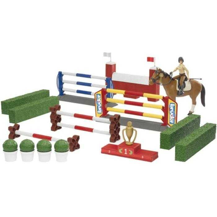Bruder - Překážky, figurka, kůň+přísl.