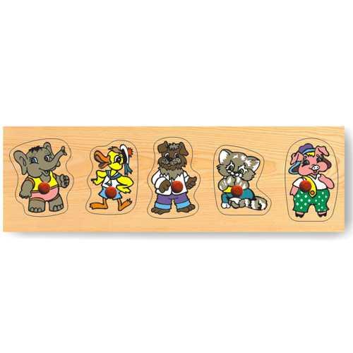 Dřevěné hračky - Vkládací puzzle - Vkládačka Zvířata cirkus