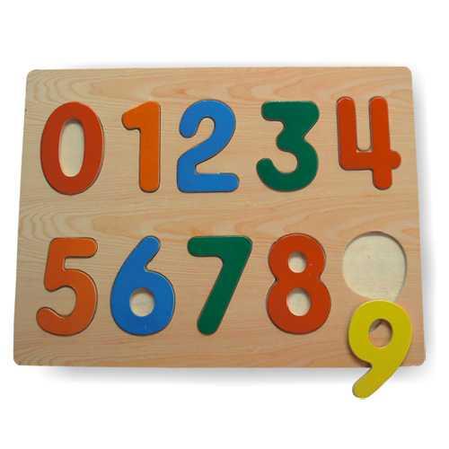 Drevené vkladacie puzzle číslice