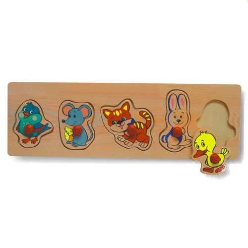 Dřevěné hračky - Vkládací puzzle - C   Hračky