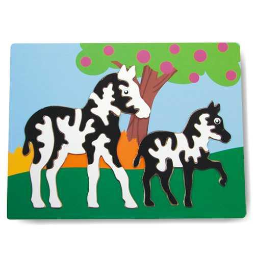 Dřevěné hračky - Vkládací puzzle - Vkládačka - Zebry