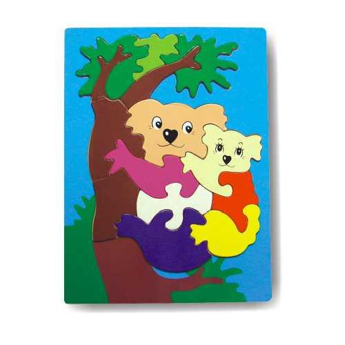 Dřevěné hračky - Vkládací puzzle - Vkládačka - Koala