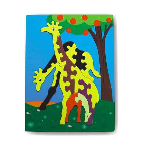 Dřevěné hračky - Vkládací puzzle - Vkládačka - Žirafy