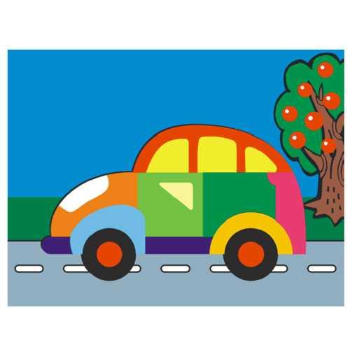 Dřevěné hračky - Vkládací puzzle - Vkládačka - Auto