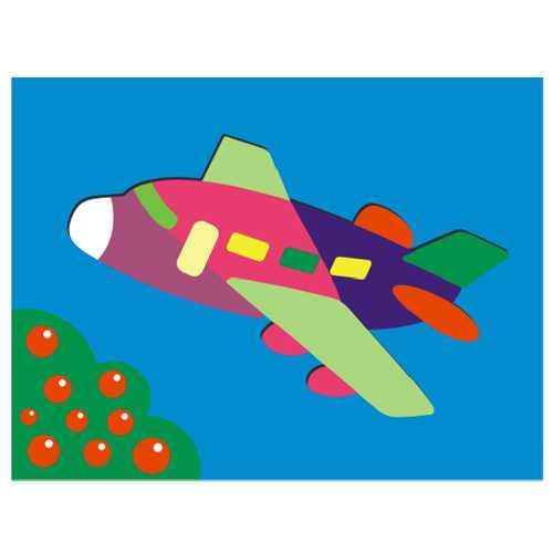 Dřevěné hračky - Vkládací puzzle - Vkládačka - Letadlo
