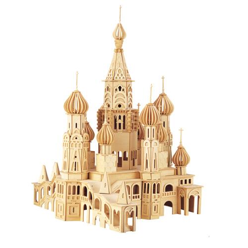 Dřevěné skládačky 3D puzzle - Kostel Petersburg DH006