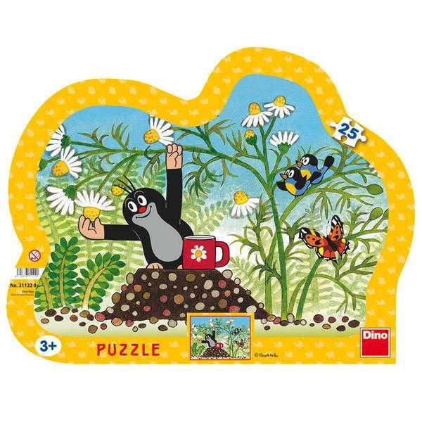 Papírové puzzle 25 dílků Krtek s hrníčkem
