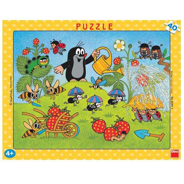 Papírové puzzle 40 dílků Krtek v jahodách