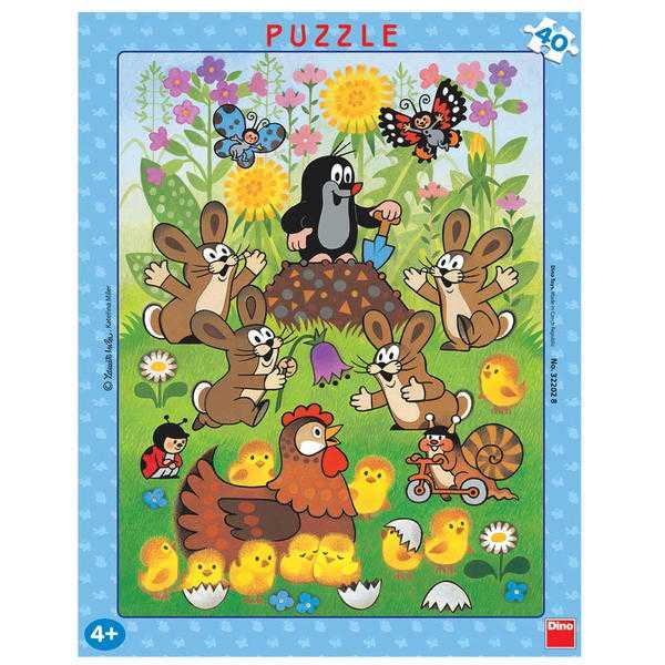 Papírové puzzle 40 dílků Krtek a velikonoce