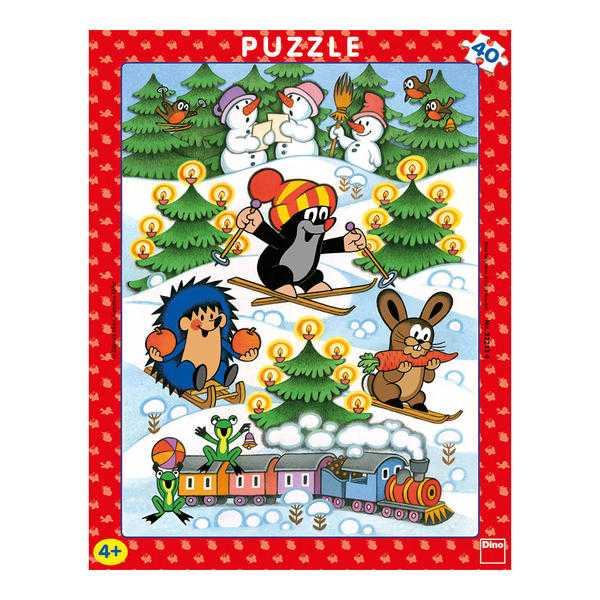 Papírové puzzle 40 dílků Krtek na sněhu