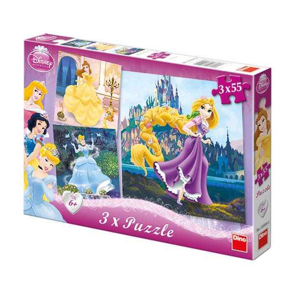 Papírové puzzle 3x55 dílků Princezny