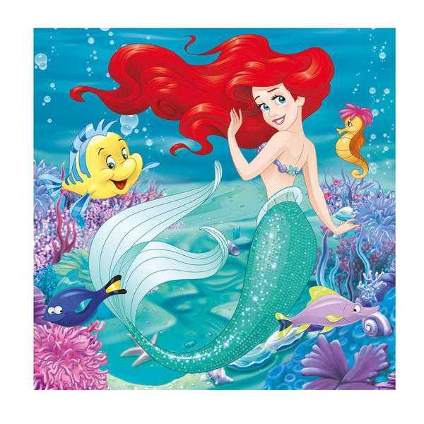 Papírové puzzle 3x55 dílků já jsem princezna