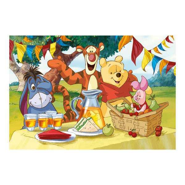 Papírové puzzle 24 dílků Medvídek PÚ na hostině