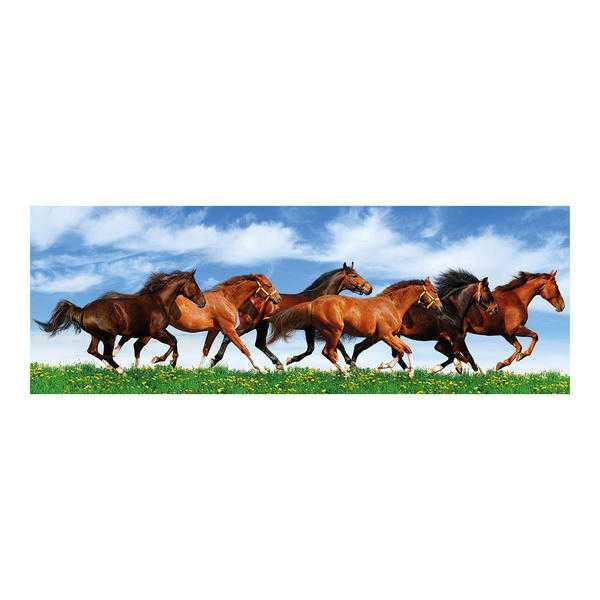 Papírové puzzle 150 dílků Úprk koní