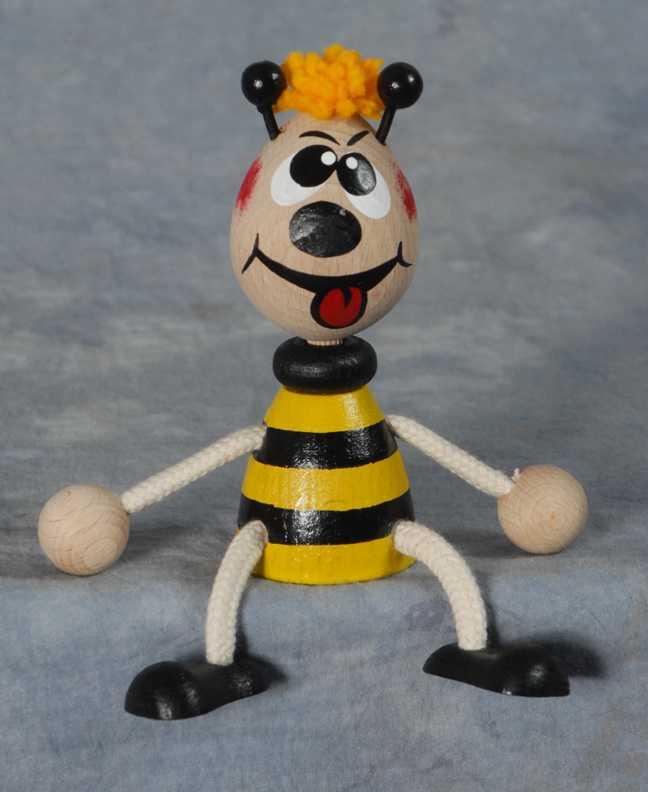 Dřevěné hračky - Na zavěšení - Vilík na pružině