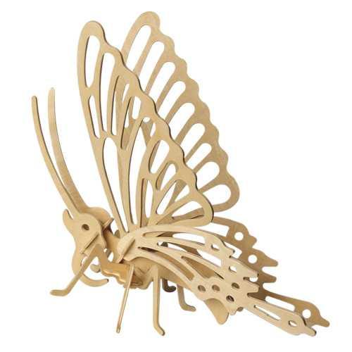 Dřevěné 3D puzzle dřevěná skládačka hmyz - Motýl E004