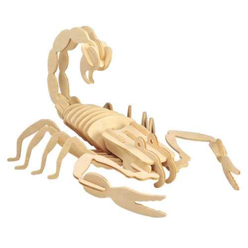 Dřevěné 3D puzzle dřevěná skládačka hmyz - Štír E006
