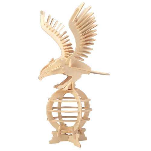 Dřevěné 3D puzzle dřevěná skládačka ptáci - Orel E008