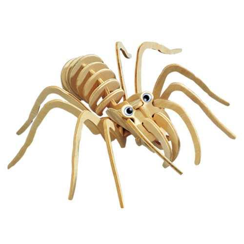 Dřevěné 3D puzzle dřevěná skládačka hmyz - Tarantule E029