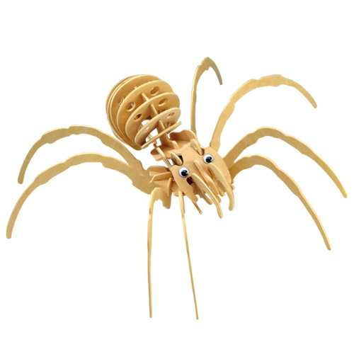 Dřevěné 3D puzzle dřevěná skládačka hmyz - Černá vdova E033