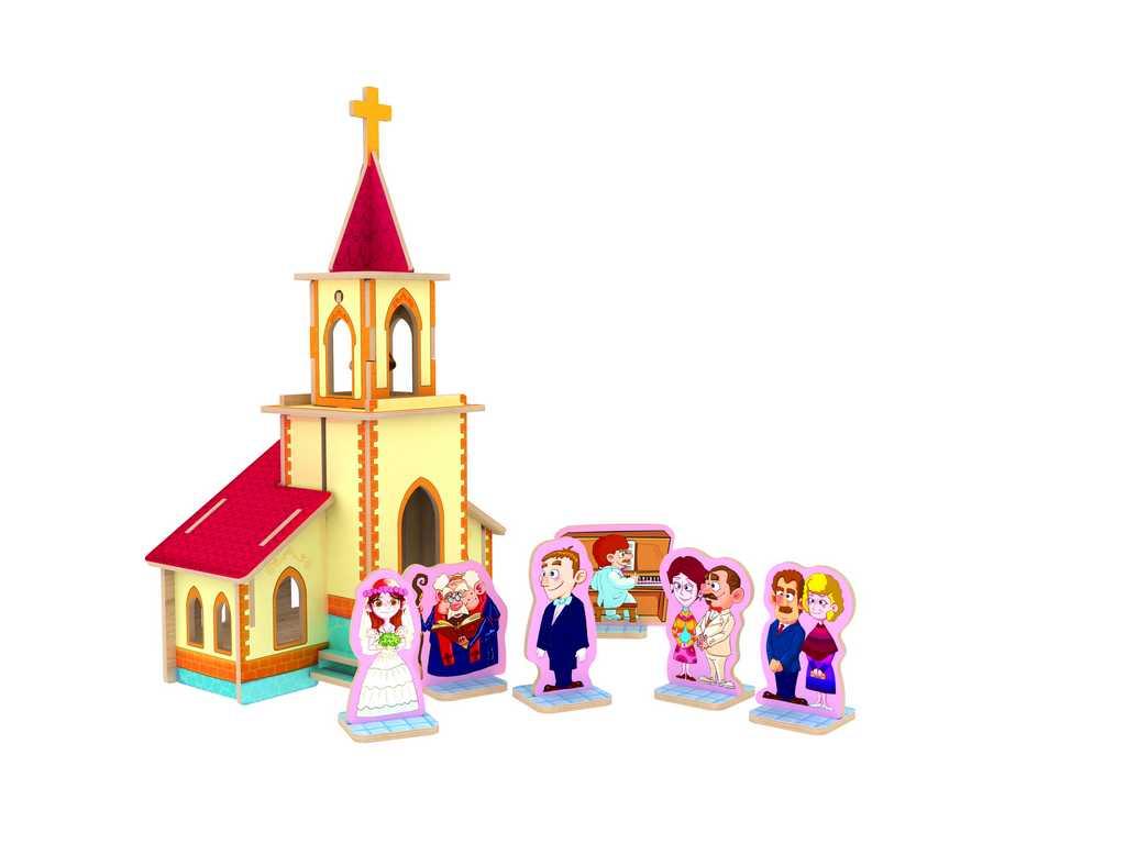 Dřevěné skládačky 3D puzzle - Svatba