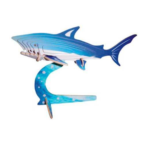 Dřevěné 3D puzzle skládačka zvířata - Malý žralok EC001A