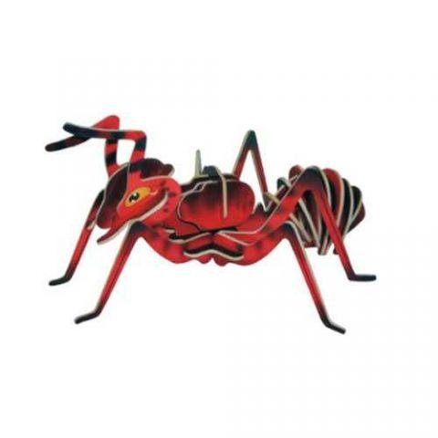 Dřevěné 3D puzzle dřevěná skládačka hmyz - Mravenec EC002