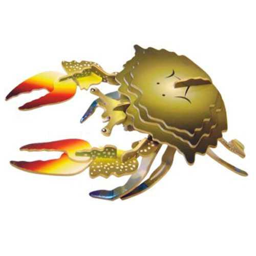 Dřevěné 3D puzzle dřevěná skládačka zvířata - Krab EC010