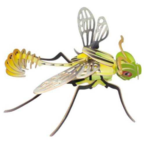 Dřevěné 3D puzzle dřevěná skládačka hmyz - Vážka EC032
