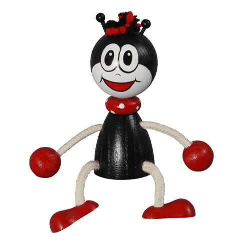 Dřevěné hračky - Na zavěšení - Ferda mravenec na pružině