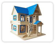 Dřevěná skládačka - Letní dům G-AH001