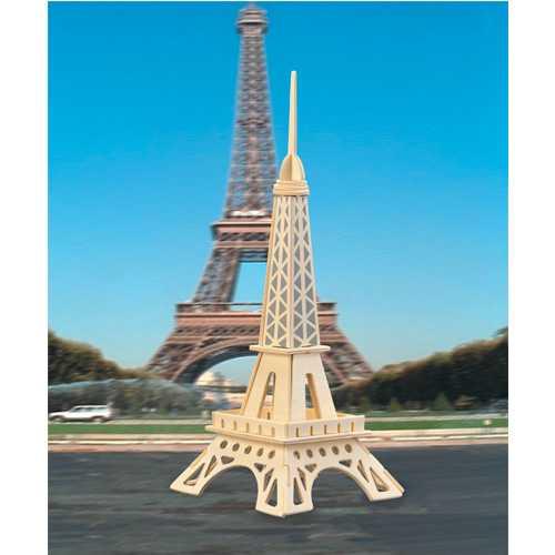 Dřevěné skládačky 3D puzzle - Eiffelova věž menší