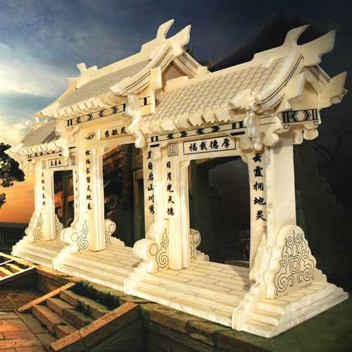 Dřevěné skládačky 3D puzzle slavné budovy Čínská brána GP169