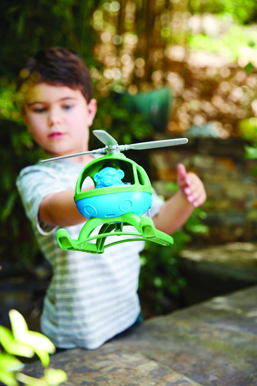 Green Toys - Vrtulník zelený